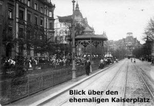 Postkarte: Blick über den ehemaligen Kaiserplatz